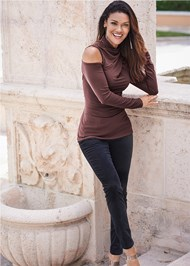 Front View Mock Neck Top