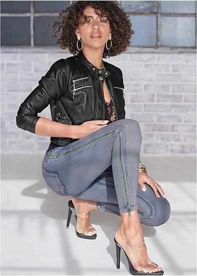 Side Zipper Jeans