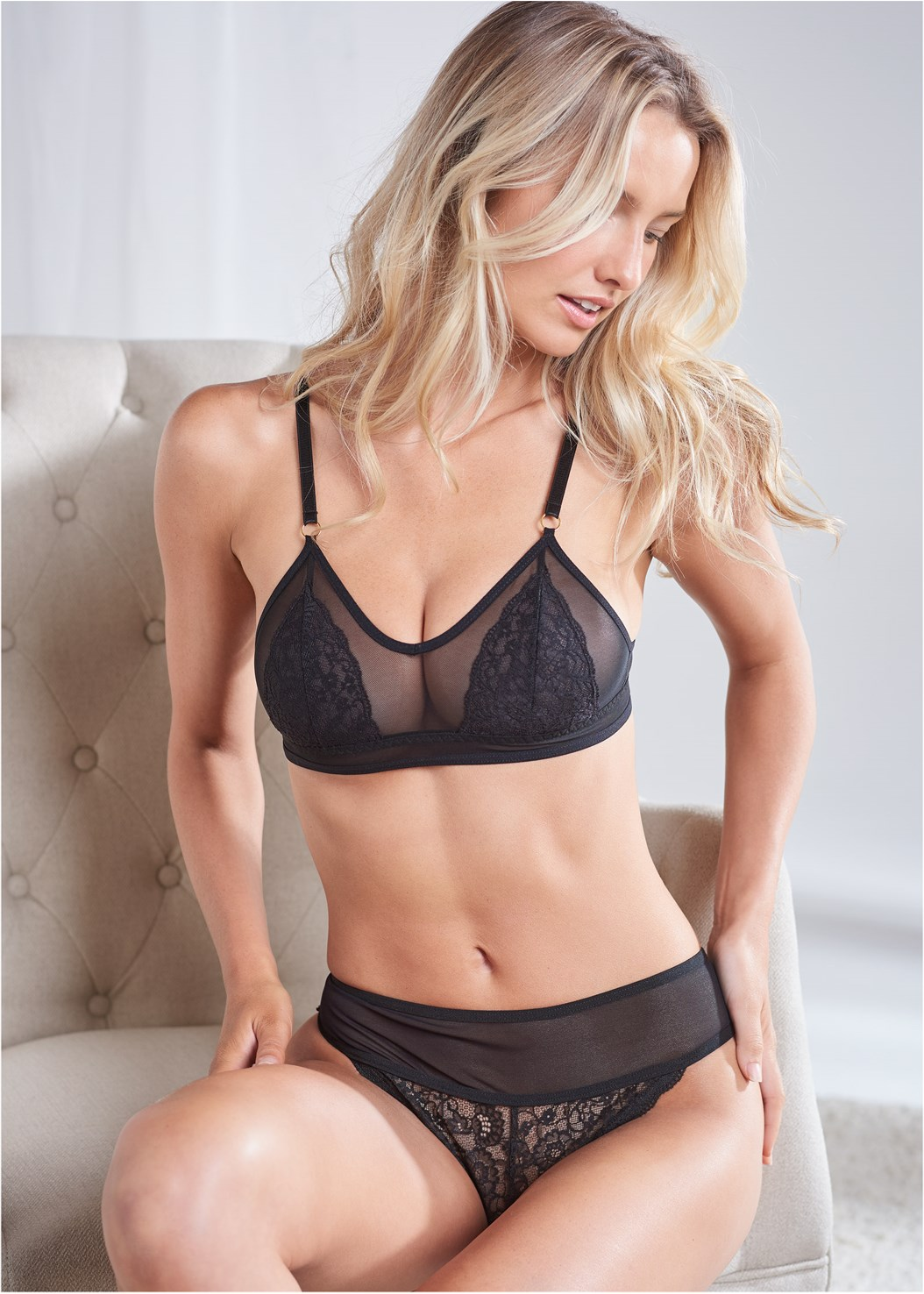 Lace Thong 3Pk,Triangle Bralette