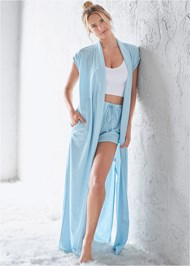 Front View Sleeveless Sleep Robe