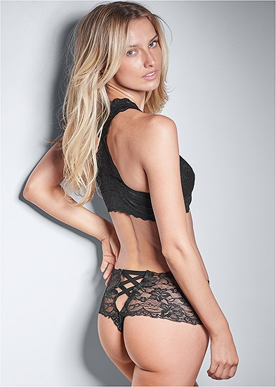 Open Lace Thong