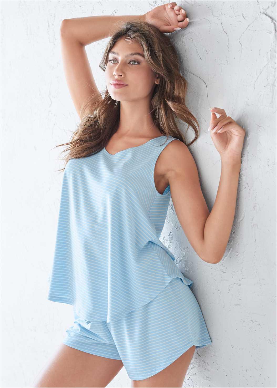 Sleep Shorts,Sleeveless Sleep Robe