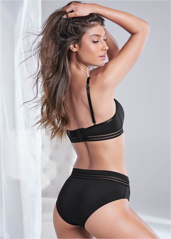 Cropped back view Triangle Bralette