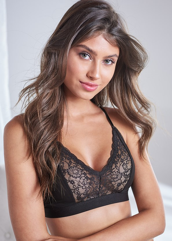 Lace Trim Triangle Bralette