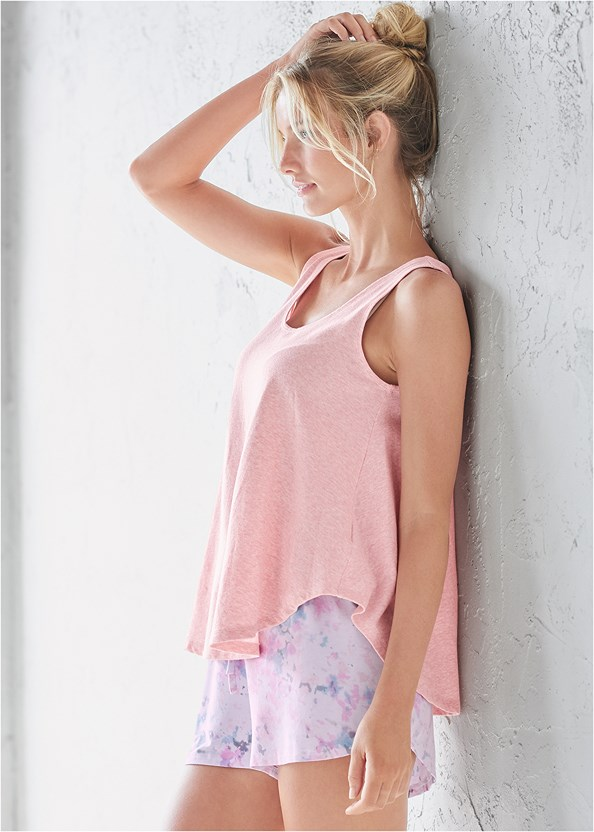 Sleep Tank,Sleep Shorts,Palazzo Sleep Pant