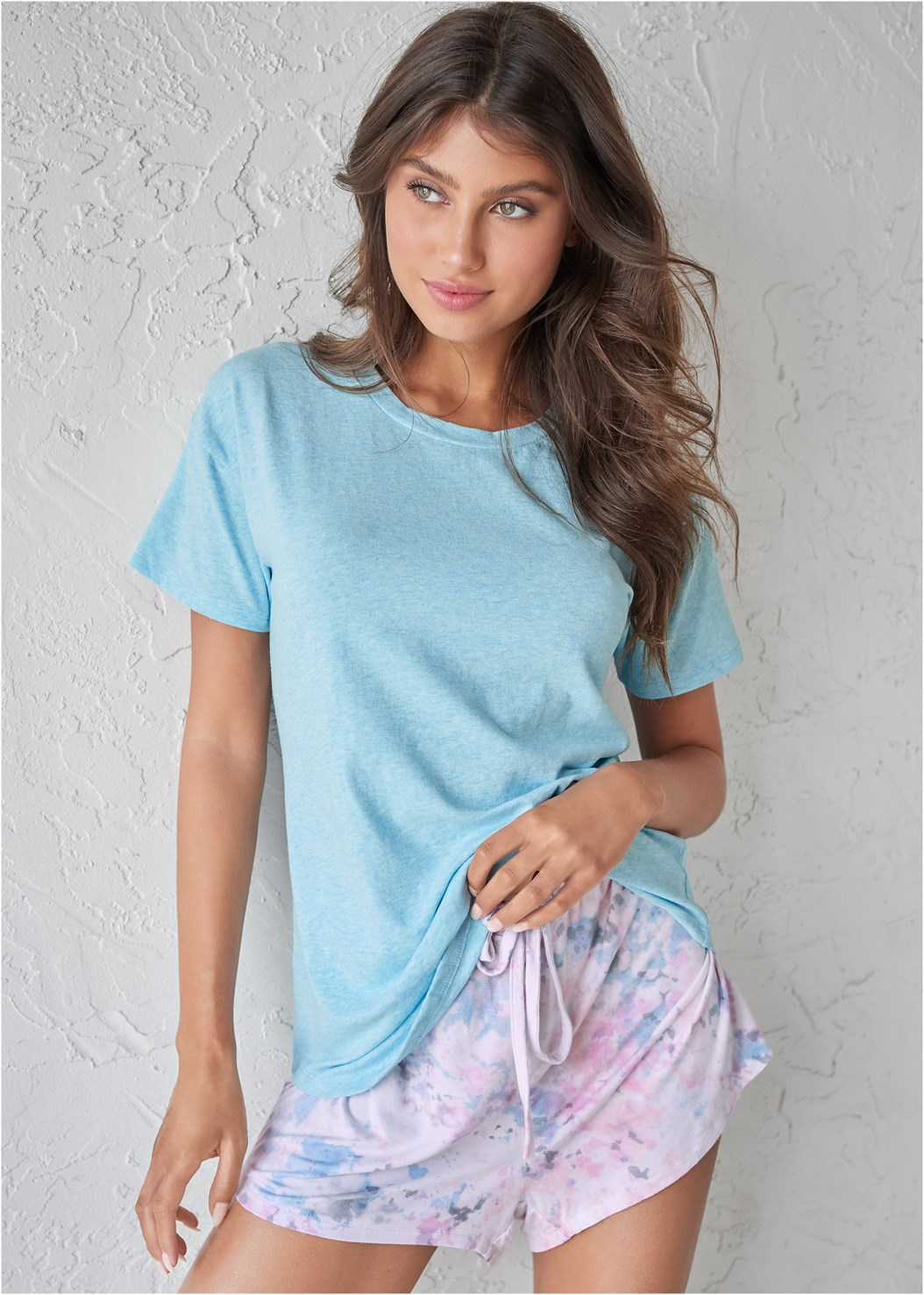 Sleep T-Shirt,Sleep Shorts,Palazzo Sleep Pant
