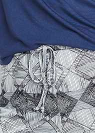 Detail front view Sleep Tee And Short Set
