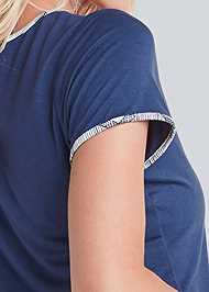 Detail back view Sleep Tee And Short Set