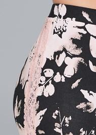 Detail front view Lace Trim Sleep Pants