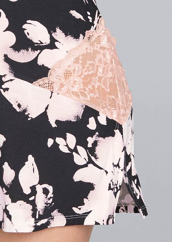 Detail front view Lace Trim Sleep Dress