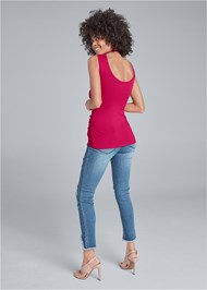 Back View Surplice Embellished Top