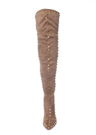 Front View Studded Over The Knee Boots
