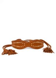 Flatshot  view Studded Wrap Waist Belt