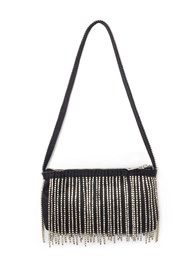 Back View Embellished Fringe Bag