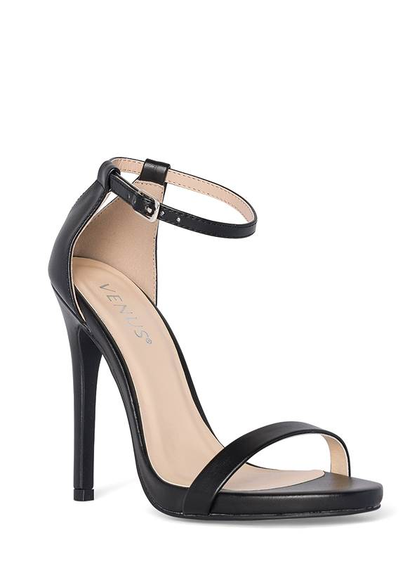 Ankle Strap Heels,Chunky Chain Layer Necklace,Stud Detail Crossbody