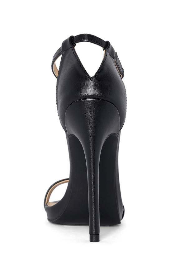 Back View Ankle Strap Heels