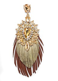Detail  view Embellished Fringe Earrings