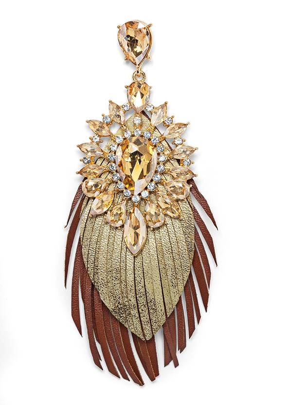 Detail  view Embellished Fringe Earrings