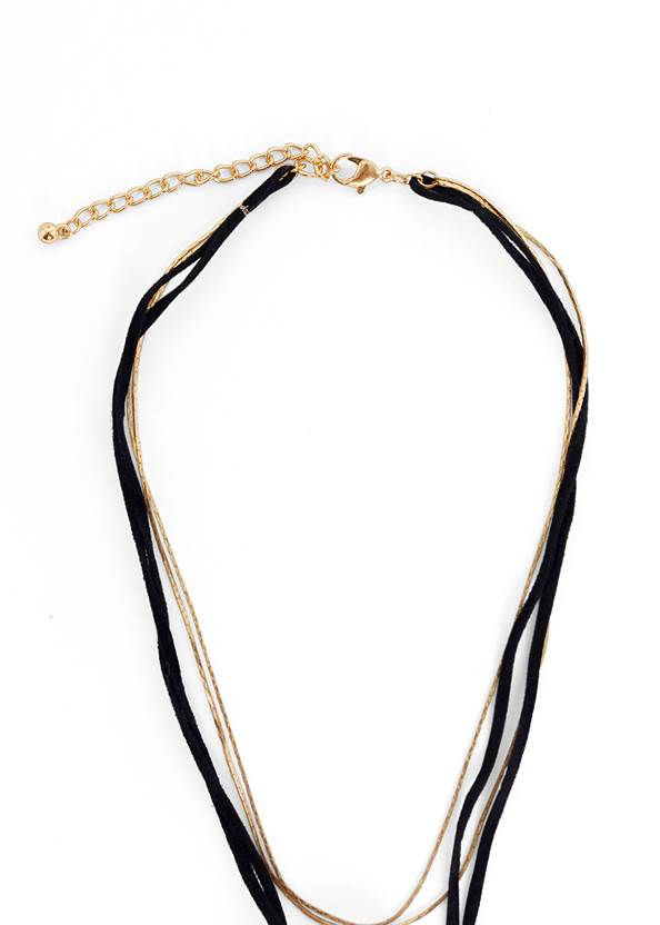 Alternate View Faux Suede Layer Necklace