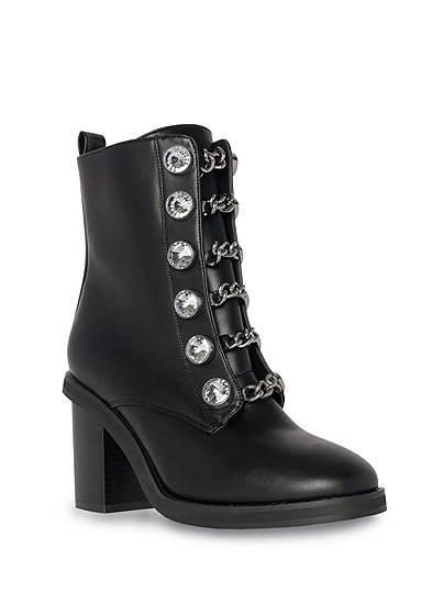 Embellished Combat Boots