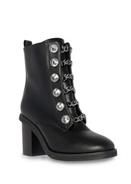 Front View Embellished Combat Boots