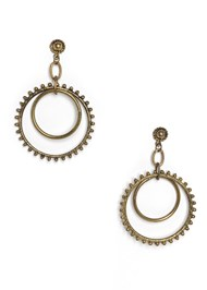 Flatshot  view Studded Matte Hoops