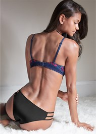 Cropped back view Memory Foam Demi Bra