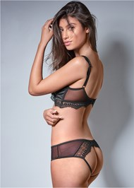Back View Cut Out Bra Panty Set