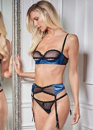 Bra Panty Garter 3Pc Set