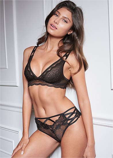 Strappy Detail Lace Panty