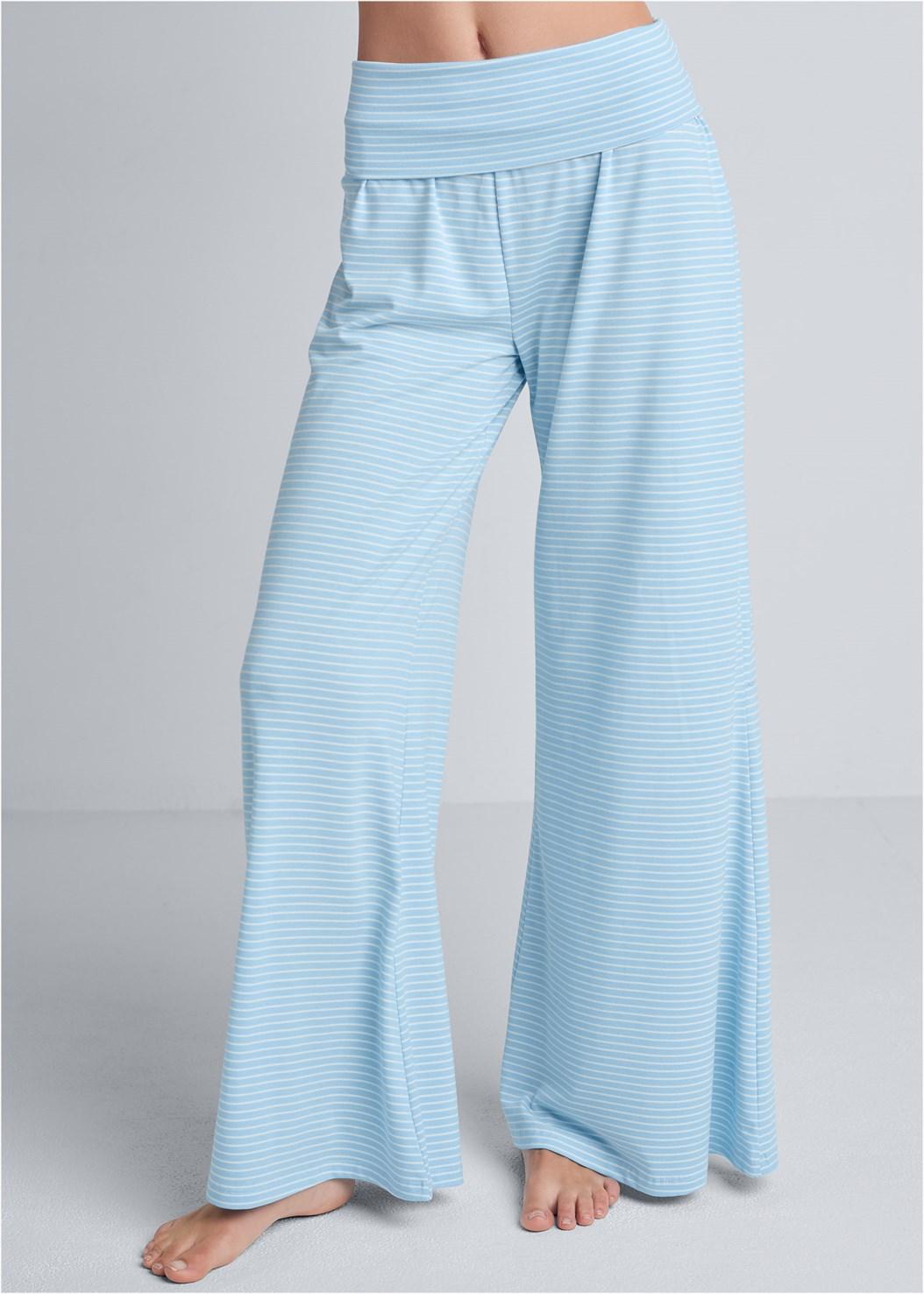 Palazzo Sleep Pant,Sleep Tank,Sleeveless Sleep Robe