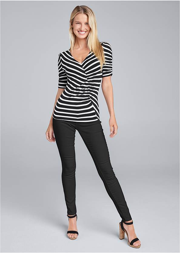 Alternate View Ruched V-Neck Top