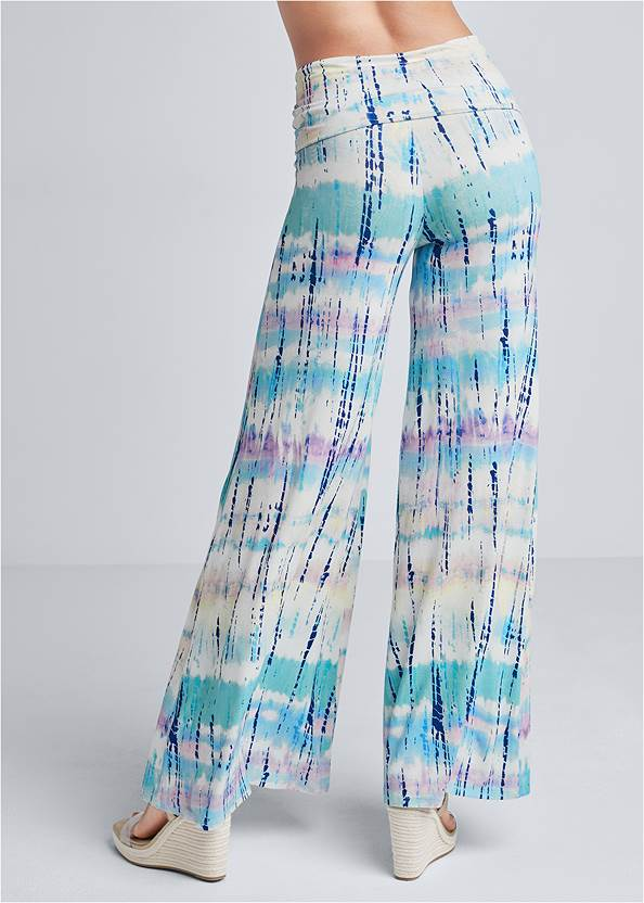Back View Tie Dye Fold Over Pants