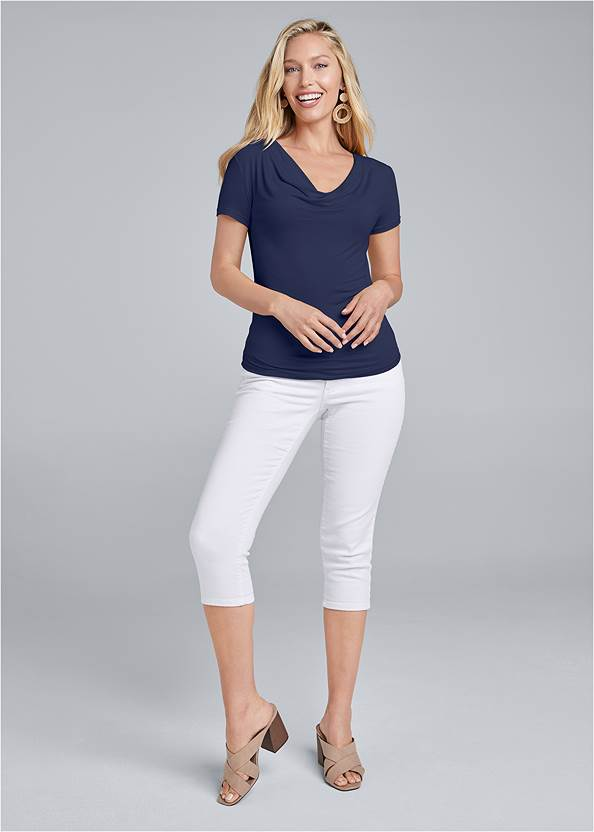 Alternate View Cowl Neck Casual Top