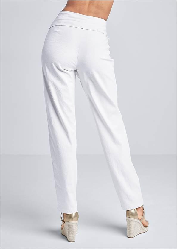 Back View Linen Wrap Front Pants