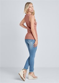 Back View Embellished Sleeveless Top