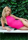 Front View Sports Illustrated Swim™ High Neck Sport One-Piece