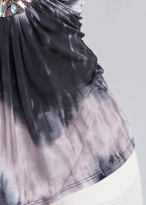 Alternate View Tie Dye Embellished Top