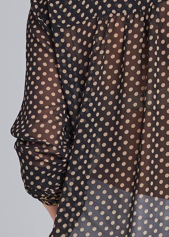 Detail back view Polka Dot Blouse