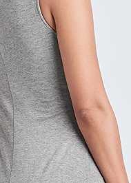 Detail back view High Slit Casual Maxi Dress