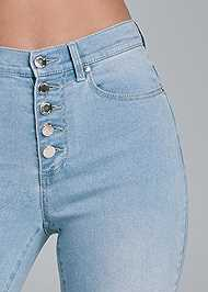Alternate View High Rise Button Fly Flare Jeans