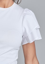 Detail front view Flutter Sleeve Top