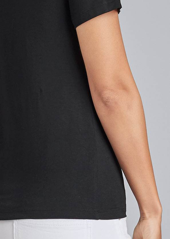 Detail back view Lace Up Grommet Top