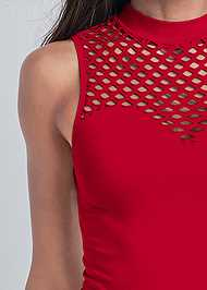 Detail front view Sleeveless Seamless Top