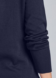 Detail back view Anchor V-Neck Sweater