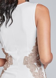 Detail back view Embroidered Bodycon Dress