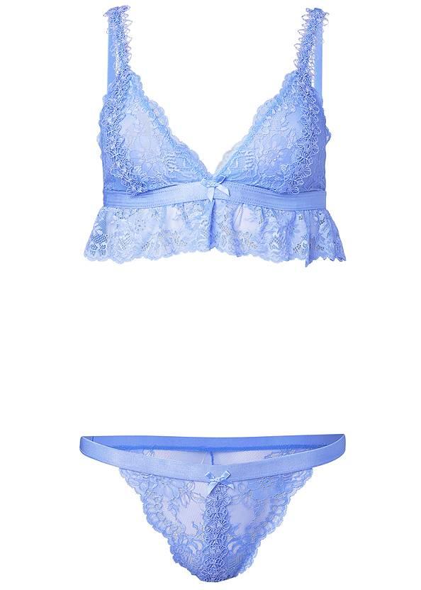 Alternate View Lace Bralette Panty Set