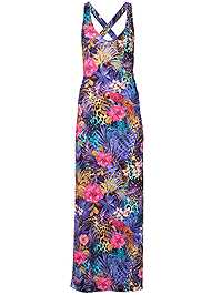 Ghost with background  view Mixed Print Maxi Dress