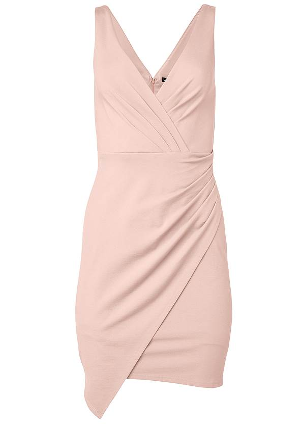 Alternate View Faux Wrap Mini Dress