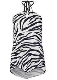 Alternate View Tiger Print Tie Neck Top